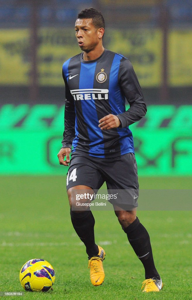 Fredy Guarin of Inter in action during the Serie A match between FC Internazionale Milano and Torino FC at San Siro Stadium on January 27, 2013 in Milan, Italy.