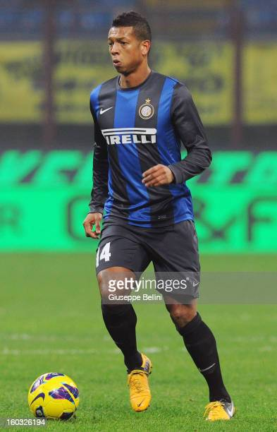 Fredy Guarin of Inter in action during the Serie A match between FC Internazionale Milano and Torino FC at San Siro Stadium on January 27 2013 in...