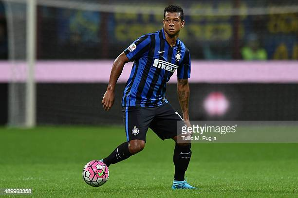 Fredy Guarin of Internazionale Milano in action during the Serie A match between FC Internazionale Milano and Hellas Verona FC at Stadio Giuseppe...