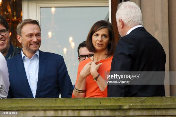 Free Democrats Party Leader Christian Lindner Green Party Faction CoLeader Katrin GoeringEckardt and Free Democrats Party Board Member Wolfgang...