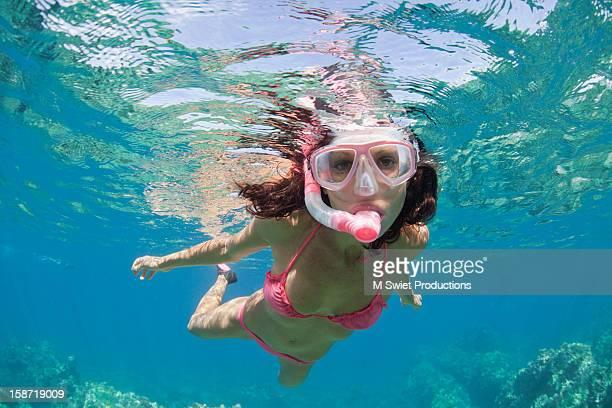 free dive woman
