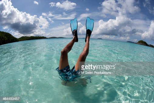 Free diving snorkeling