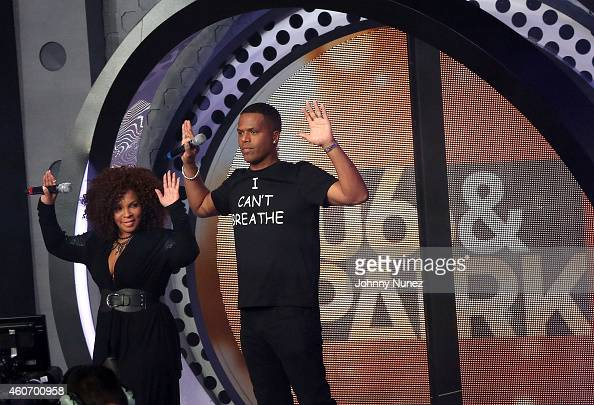 Free Marie and AJ Calloway attend The BET '106 Park' Finale at BET Studios on December 19 2014 in New York City