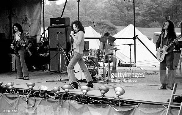 Free perform live at a festival in Leeds England in 1970 LR Andy Fraser Paul Rodgers Simon Kirke Paul Kossoff