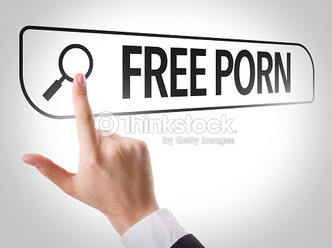 Free Porn Written In Search Bar On Virtual Screen