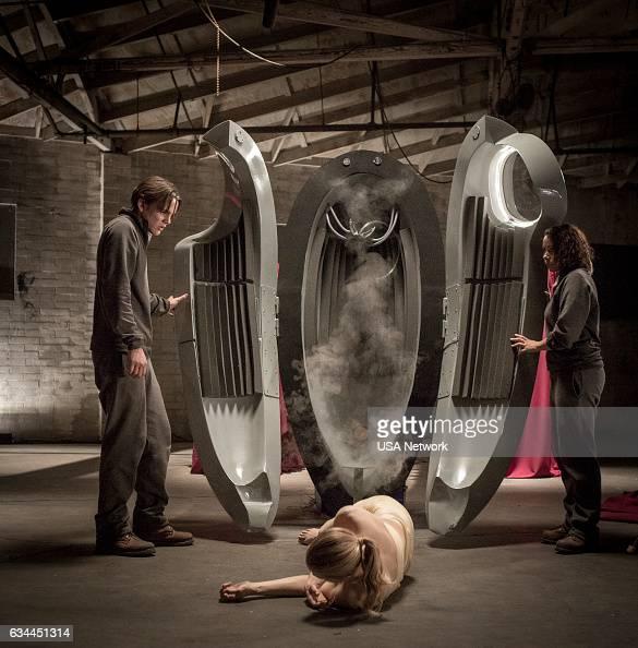COLONY 'Free Radicals' Episode 207 Pictured Alex Neustaedter as Bram Bowman Jessica Parker Kennedy as Maya