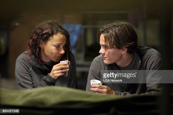 COLONY 'Free Radicals' Episode 207 Pictured Jessica Parker Kennedy as Maya Alex Neustaedter as Bram Bowman