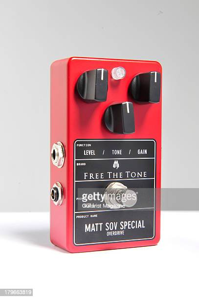 Free The Tone Matt SOV Special Overdrive electric guitar effects pedal photographed during a shoot for Guitarist Magazine December 20 2012