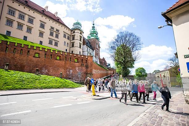 無料でウォーキングツアーのクラクフ、ポーランド