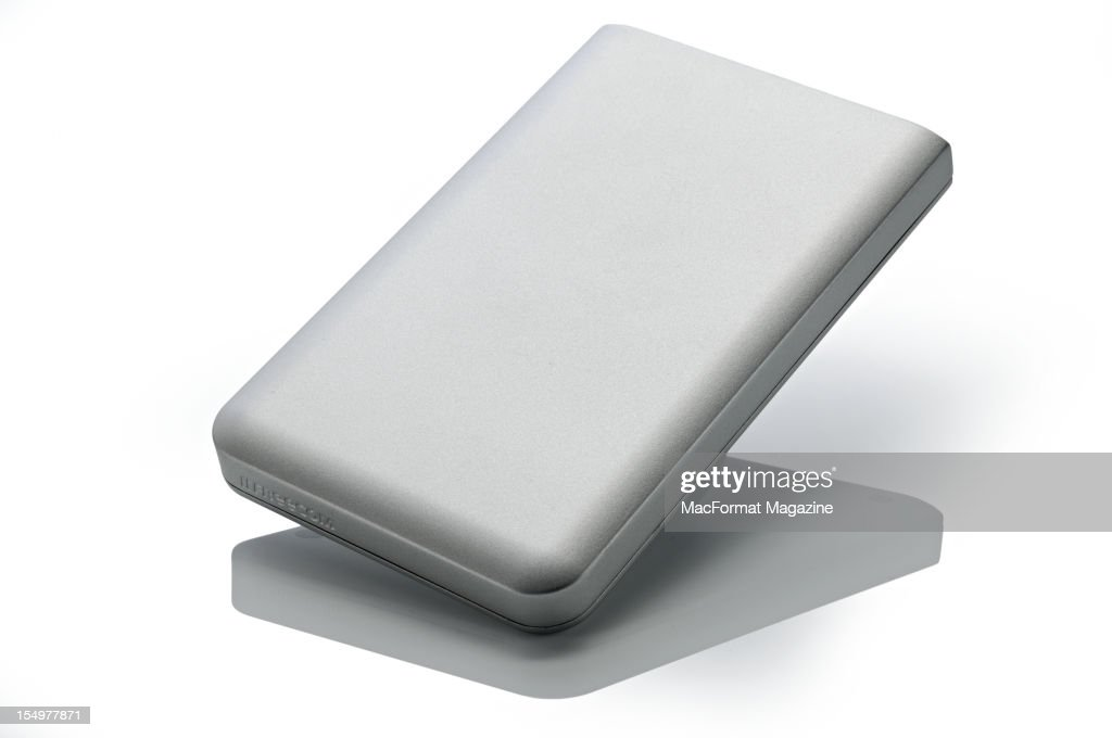 A Freecom Mobile Drive MG U and F 1TB portable hard drive, photographed during a studio shoot for Mac Format Magazine, March 22, 2012.