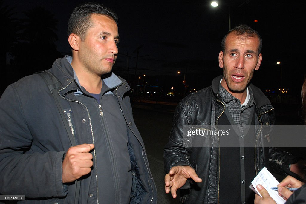 Freed Algerian hostages arrive at Algiers airport after they were released by Islamist captors, alongside other Algerians, from a gas plant in In Amenas, more than 1,600 kilometres from the capital, on January 18, 2013. More than 72 hours after the heavily armed militants staged a deadly raid on the complex, and two days after Algerian special forces launched a botched rescue bid widely condemned as hasty, there appeared to be a stand-off in the Sahara.