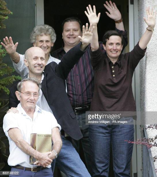 Freed BBC journalist Alan Johnston after being reunited with family members sister Katriona parents Graham Margaret and brotherinlaw Raymond Hogg at...
