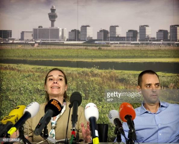 Freed dutch journalist judith spiegel l and her partner for Journalist spiegel