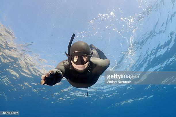 Freediver, Aegean Sea, Greece