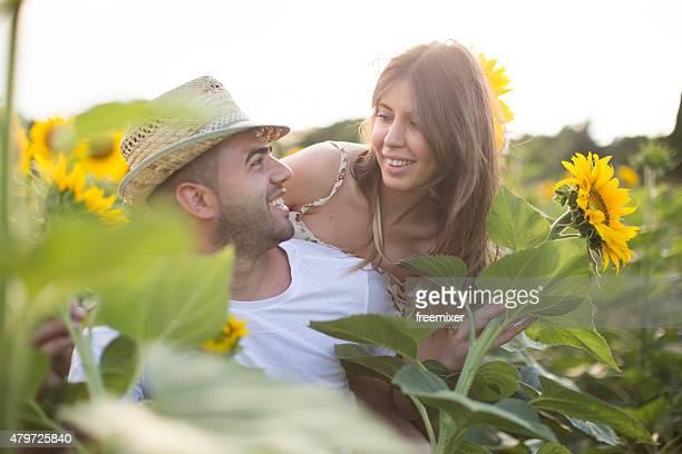 Liberdade entre sunflowers