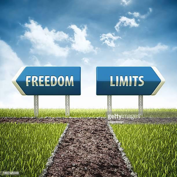 La liberté et limites croisement