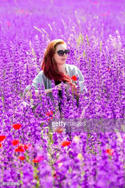Freedom at lavender field