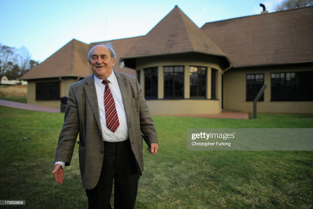Freedom fighter Denis Goldberg talks to the media at Liliesleaf Farm, the apartheid-era hideout for Nelson Mandela and freedom fighters in Johannesburg, on July 11, 2013 in Rivonia, South Africa. It is 50 years since the hideout was raided by police on July 11, 1963. The farm was the secret nerve centre for the Umkhonto we Sizwe, the military wing of the ANC and the Congress Alliance. Police interrupted a meeting of Operation Mayibuye, a plan to overthrow the Apartheid government. The raid by police led to the arrest of Nelson Mandela, Walter Sisulu, Ahmed Kathrada, Govan Mbeki and Denis Goldberg, who were convicted through the infamous Rivonia Trial and most were sentenced to life imprisonment on Robben Island.