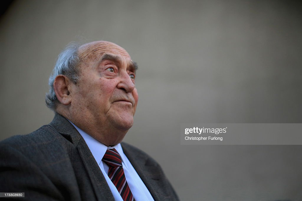 Freedom fighter Denis Goldberg talks to the media at Liliesleaf Farm; the apartheid-era hideout for Nelson Mandela and freedom fighters in Johannesburg, on July 11, 2013 in Rivonia, South Africa. RIVONIA, SOUTH AFRICA - JULY 11: Freedom fighter Denis Goldberg talks to the media at Liliesleaf Farm, the apartheid-era hideout for Nelson Mandela and freedom fighters in Johannesburg, on July 11, 2013 in Rivonia, South Africa. It is 50 years since the hideout was raided by police on July 11, 1963. The farm was the secret nerve centre for the Umkhonto we Sizwe, the military wing of the ANC and the Congress Alliance. Police interrupted a meeting of Operation Mayibuye, a plan to overthrow the Apartheid government. The raid by police led to the arrest of Nelson Mandela, Walter Sisulu, Ahmed Kathrada, Govan Mbeki and Denis Goldberg, who were convicted through the infamous Rivonia Trial and most were sentenced to life imprisonment on Robben Island.