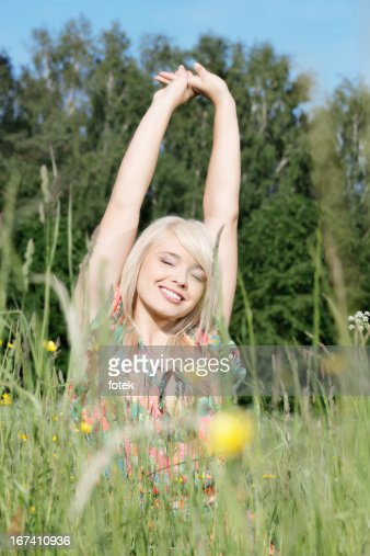 Freedom in the meadow : Stockfoto