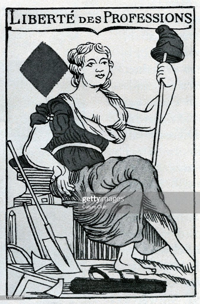 Freedom of Profession from the ace of diamonds on a French playing card