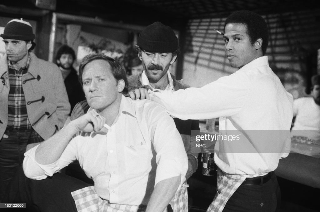 BLUES 'Freedom's Last Stand' Episode 211 Pictured Charles Haid as Officer Andy Renko Bruce Weitz as Det Mick Belker Michael Warren as Officer Bobby...