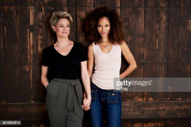 THE FOSTERS Freeformss 'The Fosters' stars Teri Polo as Stef and Sherri Saum as Lena