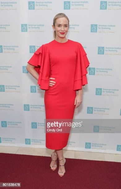 Freeing Voices Changing Lives Gala Host Emily Blunt attends the American Institute for Stuttering 11th Annual Freeing Voices Changing Lives Benefit...
