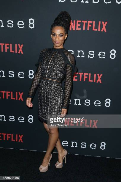 Freema Agyeman attend the Season 2 Premiere of Netflix's 'Sense8' at AMC Lincoln Square Theater on April 26 2017 in New York City