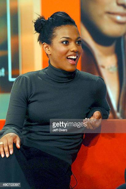 Freema Agyeman during an interview on BBC Breakfast March 27th 2007 Agyeman has been cast as the new companion Martha Jones in the BBC science...