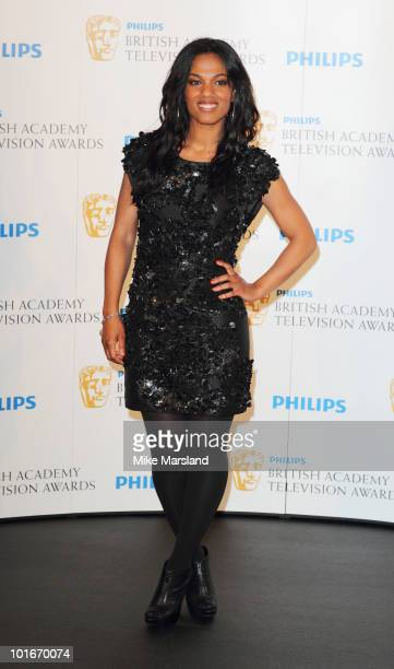Freema Agyeman poses at the Winners Boards at the Philips British Academy Television awards at the London Palladium on June 6 2010 in London England