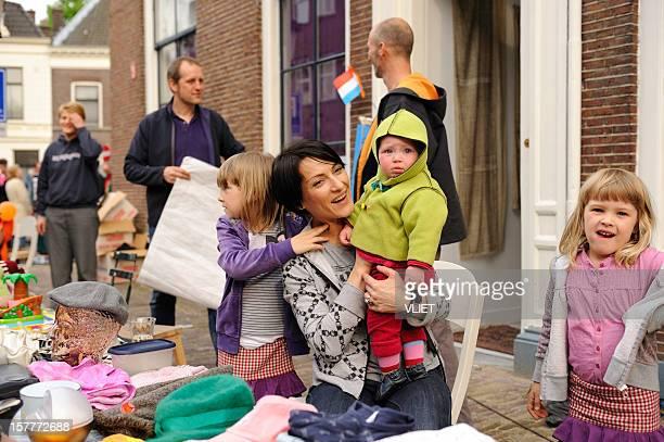 Freemarket during Queen's day in Utrecht,  the Netherlands