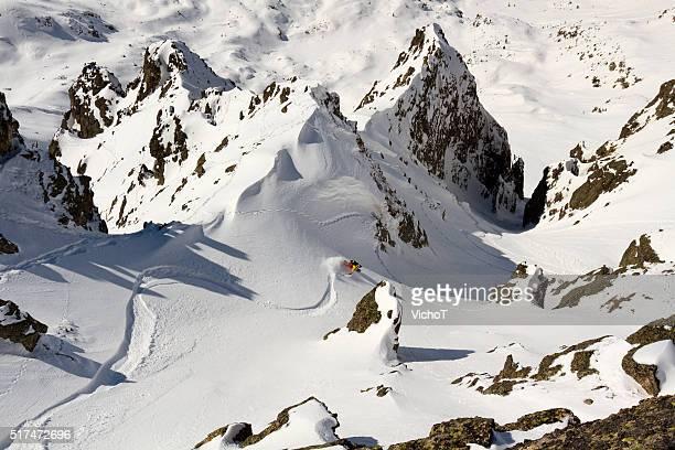 Free rider la spettacolare discesa in montagna