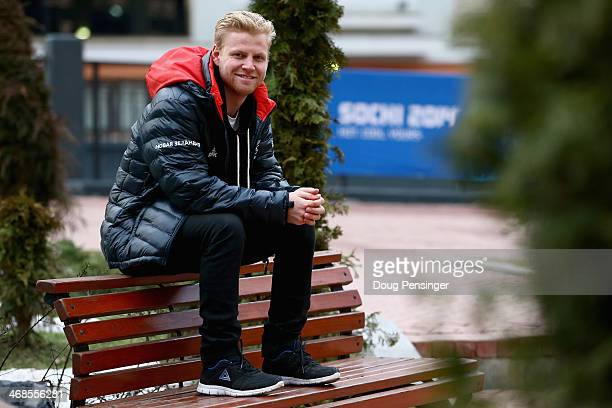 Freeskier Byron Wells of Wanaka New Zealand poses for a photo in the Rosa Khutor ski village during the 2014 Winter Olympic Games on February 11 2014...