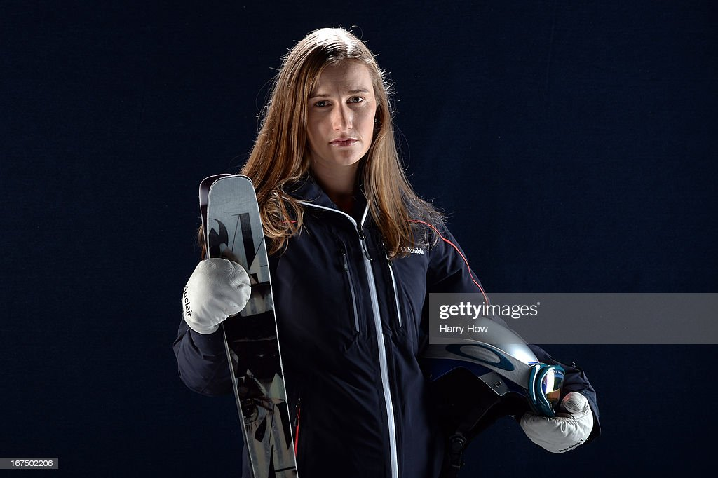 Freestyle moguls skier <a gi-track='captionPersonalityLinkClicked' href=/galleries/search?phrase=Heather+McPhie&family=editorial&specificpeople=4105079 ng-click='$event.stopPropagation()'>Heather McPhie</a> poses for a portrait during the USOC Portrait Shoot on April 25, 2013 in West Hollywood, California.