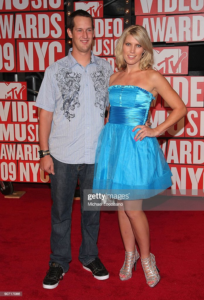 Freestyle Rider Jim DeChamp (L) and Motocross Racer Jolene Van Vugt (R) arrive at the 2009 MTV Video Music Awards at Radio City Music Hall on September 13, 2009 in New York City.