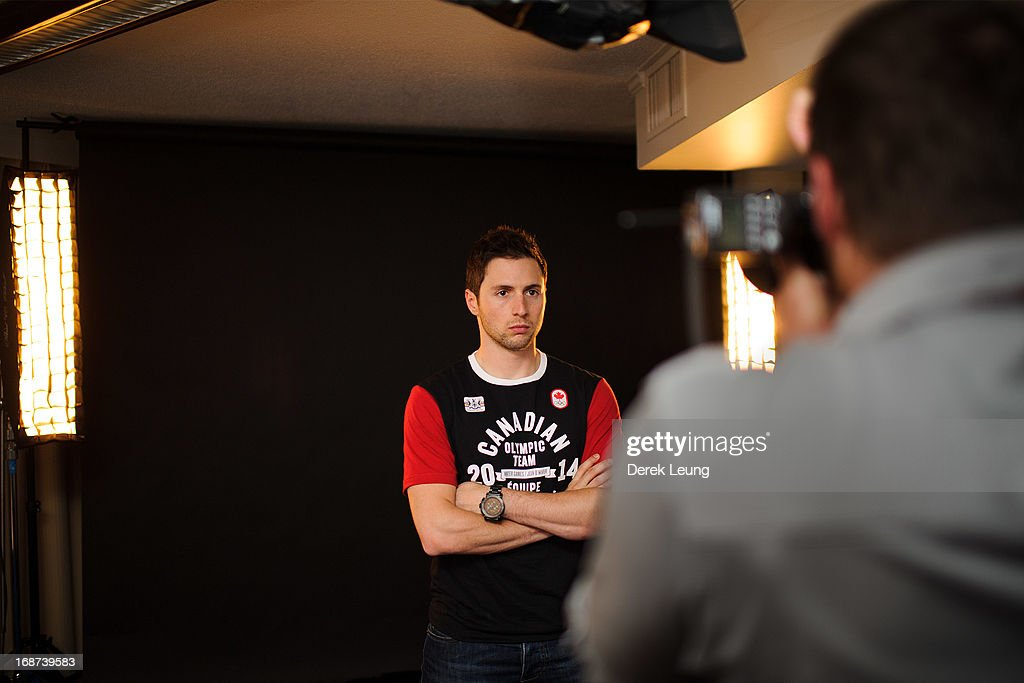 Freestyle skier Alexandre Bilodeau poses for a portrait during the Canadian Olympic Committee Portrait Shoot on May 13, 2013 in Vancouver, British Columbia, Canada.