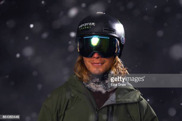 Freestyle Skier David Wise poses for a portrait during the Team USA Media Summit ahead of the PyeongChang 2018 Olympic Winter Games on September 26...