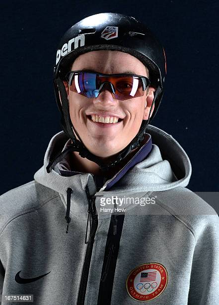 Freestyle skier Dylan Ferguson poses for a portrait during the USOC Portrait Shoot on April 25 2013 in West Hollywood California