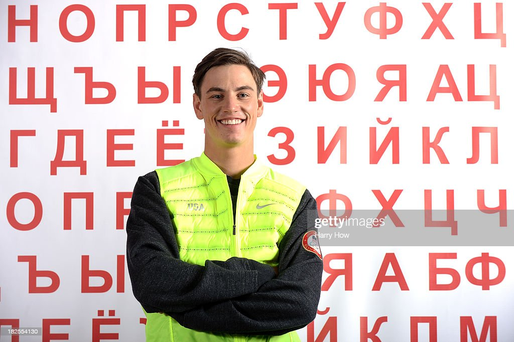 Freestyle skier <a gi-track='captionPersonalityLinkClicked' href=/galleries/search?phrase=Dylan+Ferguson&family=editorial&specificpeople=2524622 ng-click='$event.stopPropagation()'>Dylan Ferguson</a> poses for a portrait during the USOC Media Summit ahead of the Sochi 2014 Winter Olympics on September 29, 2013 in Park City, Utah.