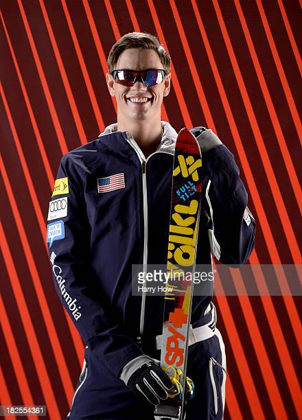 Freestyle skier Dylan Ferguson poses for a portrait during the USOC Media Summit ahead of the Sochi 2014 Winter Olympics on September 29 2013 in Park...