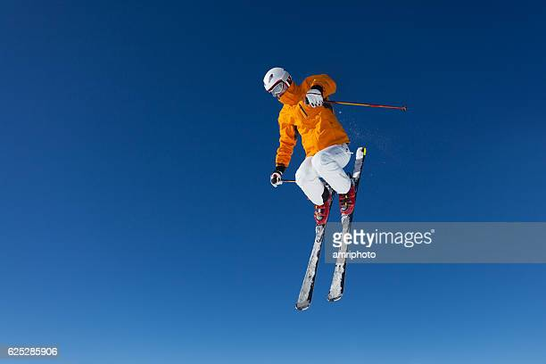 freestyle skier in air
