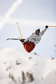 Freestyle Skier in Mid-air