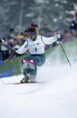 1994 Winter Olympics USA Elizabeth McIntyre in action during Women's Moguls at Kanhugen Freestyle Arena Lillehammer Norway 2/16/1994 CREDIT John...