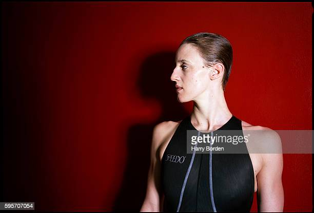 Freestyle swimmer Karen Pickering is photographed for the Observer on May 23 2000 in London England