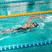 Freestyle swimmer, doing 1500 meters race