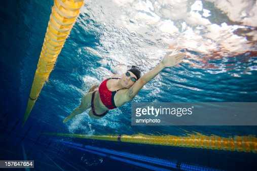 freestyle swimmer underwater view