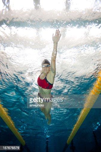 freestyle swimming underwater