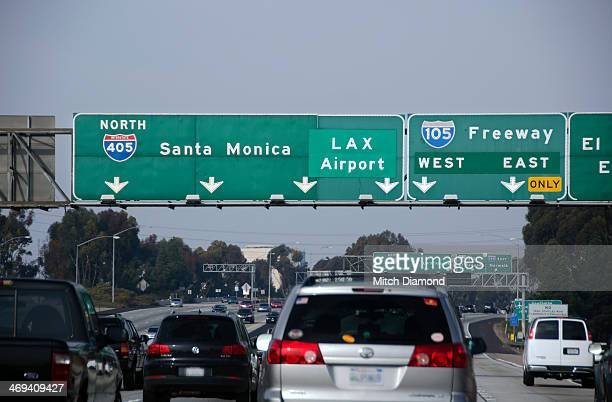 LAX freeway airport sign