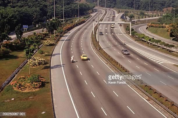 Freeway, Kuala Lumpur, Malaysia, elevated view